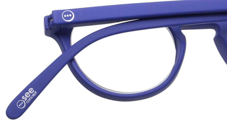 イジピジ リーディンググラス +2.5 #A-NAVY BLUE SOFT [老眼鏡/丸メガネ/青]  4