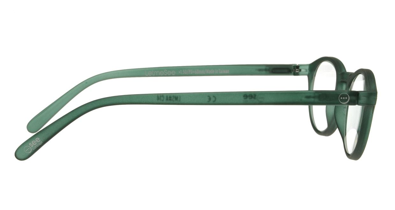 イジピジ リーディンググラス +2.5 #A-GREEN CRYSTAL SOFT [老眼鏡/丸メガネ/緑]  1