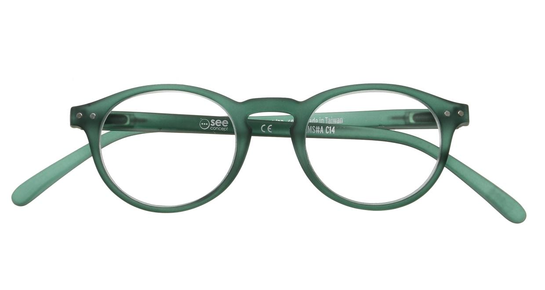 イジピジ リーディンググラス +2.5 #A-GREEN CRYSTAL SOFT [老眼鏡/丸メガネ/緑]  3