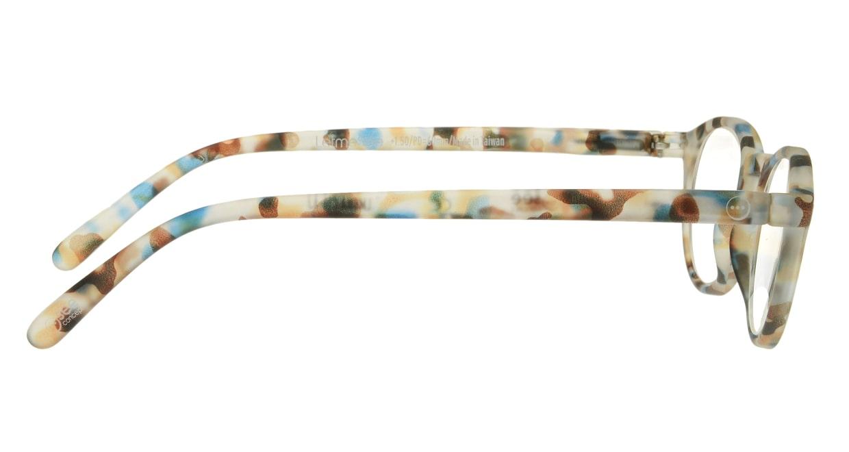 イジピジ リーディンググラス +2.5 #A-BLUE TORTOISE SOFT [老眼鏡/丸メガネ/派手]  1