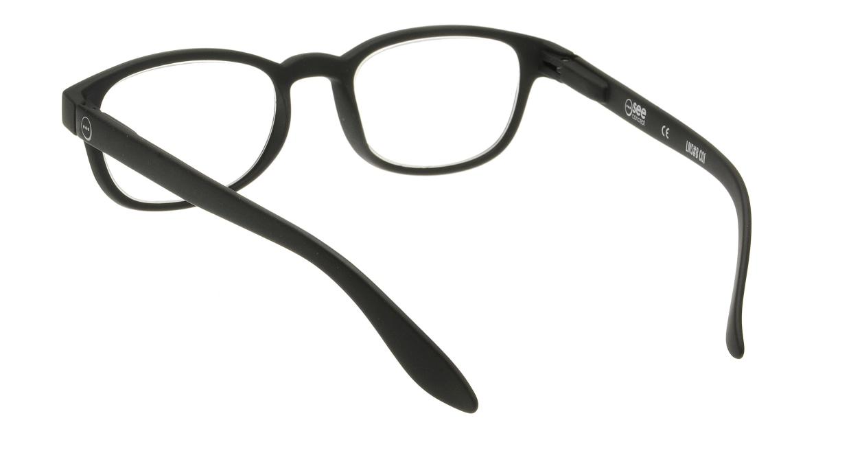イジピジ リーディンググラス +2.5 #B-BLACK SOFT [老眼鏡/黒縁/スクエア]  2