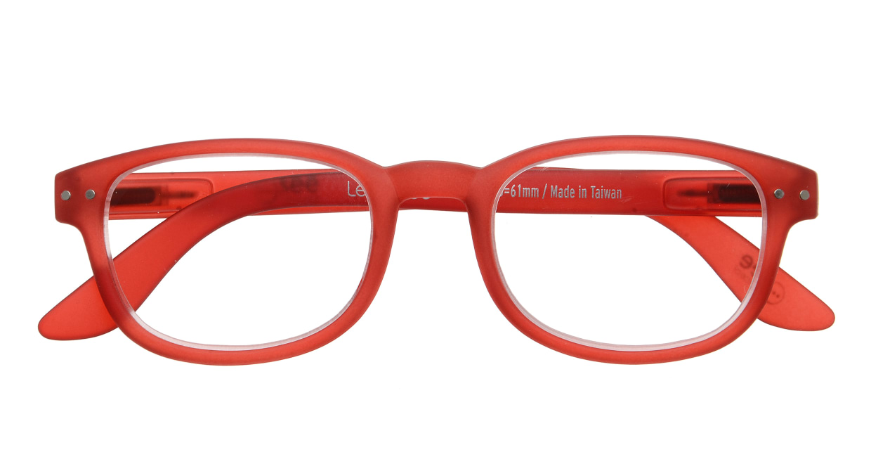 イジピジ リーディンググラス +2.5 #B-RED CRYSTAL SOFT [老眼鏡/スクエア/赤]  3