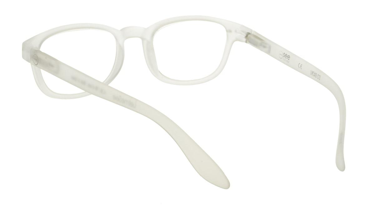 イジピジ リーディンググラス +2.5 #B-WHITE CRYSTAL SOFT [老眼鏡/スクエア/白]  2
