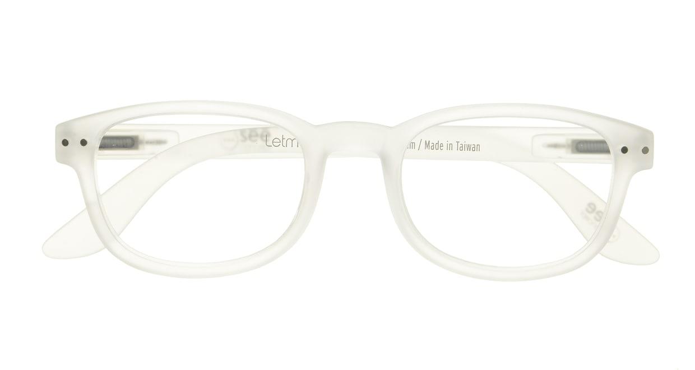 イジピジ リーディンググラス +2.5 #B-WHITE CRYSTAL SOFT [老眼鏡/スクエア/白]  3
