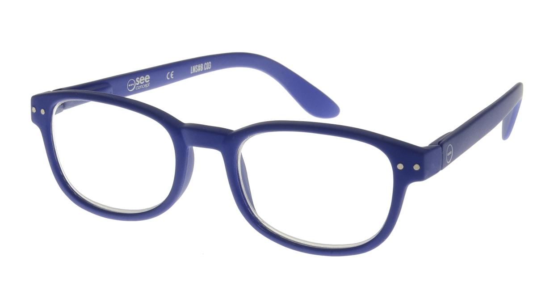 イジピジ リーディンググラス +2.5 #B-NAVY BLUE SOFT [老眼鏡/スクエア/青]