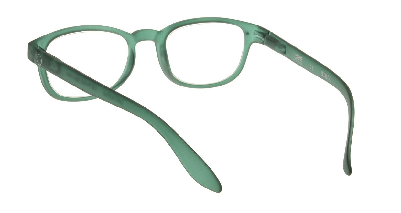 イジピジ リーディンググラス +2.5 #B-GREEN CRYSTAL SOFT [老眼鏡/スクエア/緑]  2
