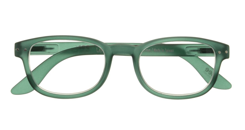 イジピジ リーディンググラス +2.5 #B-GREEN CRYSTAL SOFT [老眼鏡/スクエア/緑]  3