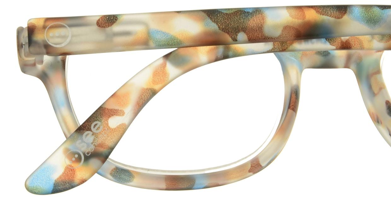 イジピジ リーディンググラス +2.5 #B-BLUE TORTOISE SOFT [老眼鏡/スクエア/派手]  4