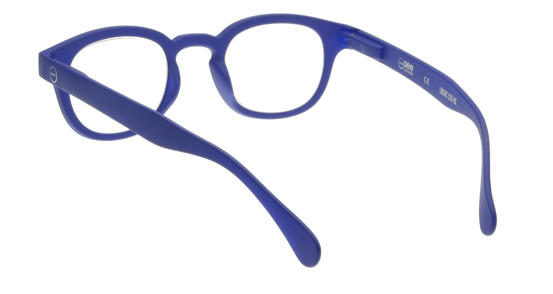 イジピジ リーディンググラス +2.5 #C-NAVY BLUE SOFT [老眼鏡/ウェリントン/青]  2