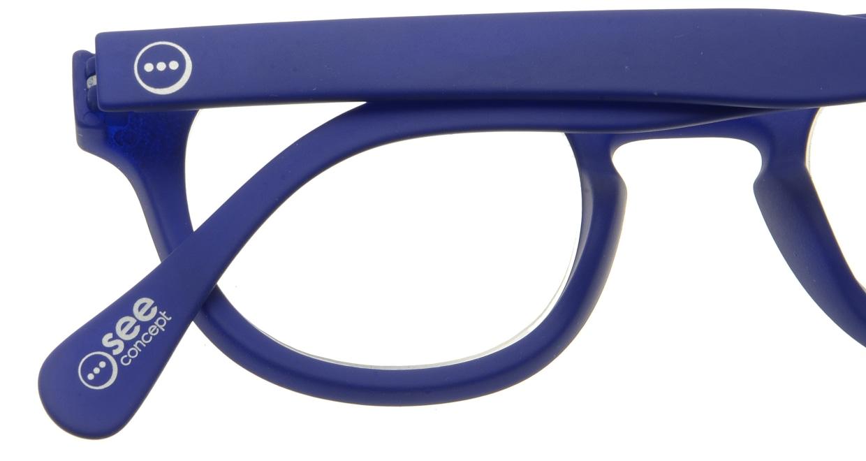 イジピジ リーディンググラス +2.5 #C-NAVY BLUE SOFT [老眼鏡/ウェリントン/青]  4