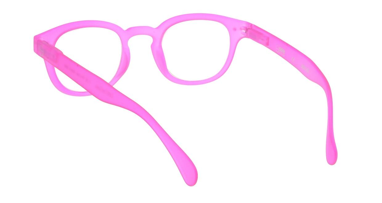 イジピジ リーディンググラス +2.5 #C-PINK CRYSTAL SOFT [老眼鏡/ウェリントン/ピンク]  2