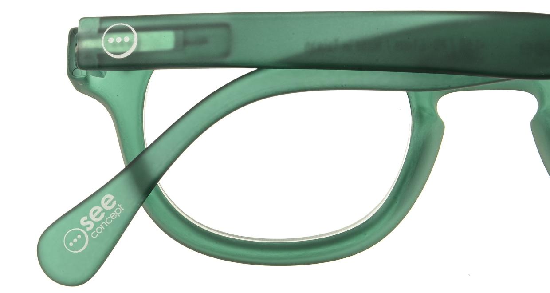 イジピジ リーディンググラス +2.5 #C-GREEN CRYSTAL SOFT [老眼鏡/ウェリントン/緑]  4