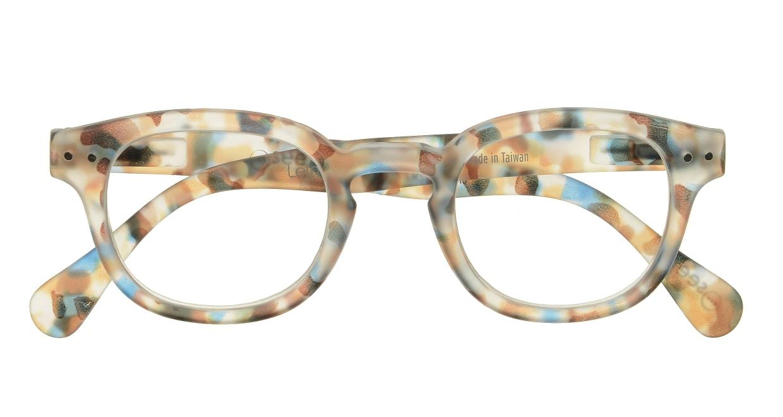 イジピジ リーディンググラス +2.5 #C-BLUE TORTOISE SOFT [老眼鏡/ウェリントン/派手]  3