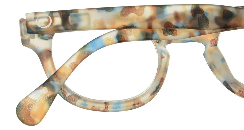 イジピジ リーディンググラス +2.5 #C-BLUE TORTOISE SOFT [老眼鏡/ウェリントン/派手]  4