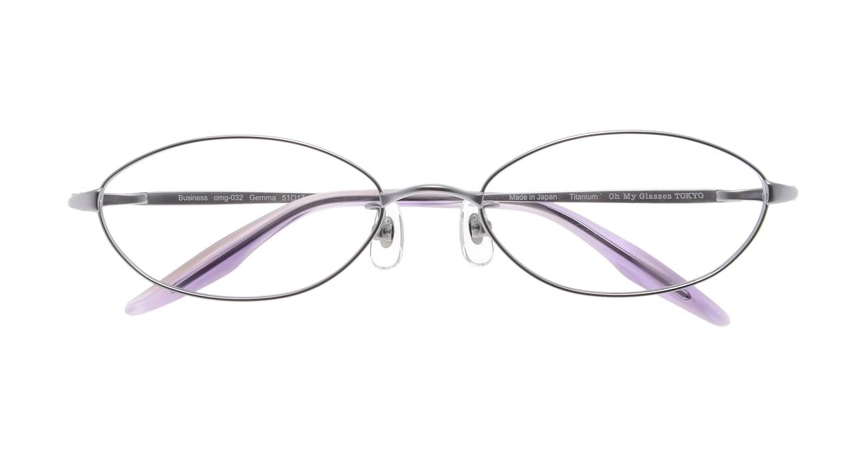 Oh My Glasses TOKYO Gemma omg-032 1-51 [メタル/鯖江産/オーバル/紫]  3