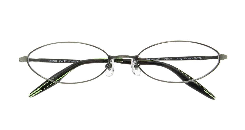 Oh My Glasses TOKYO Jacqueline omg-033 3-52 [メタル/鯖江産/オーバル/緑]  3