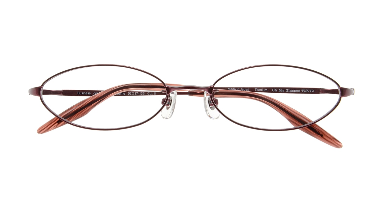 Oh My Glasses TOKYO Jacqueline omg-033 6-52 [メタル/鯖江産/オーバル/赤]  3