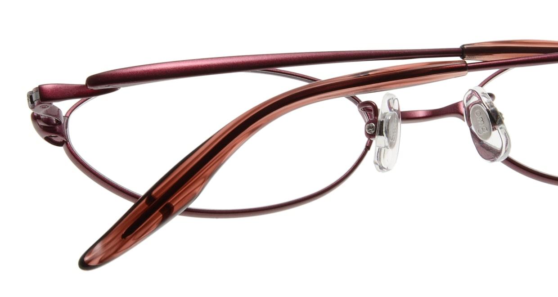 Oh My Glasses TOKYO Jacqueline omg-033 6-52 [メタル/鯖江産/オーバル/赤]  5