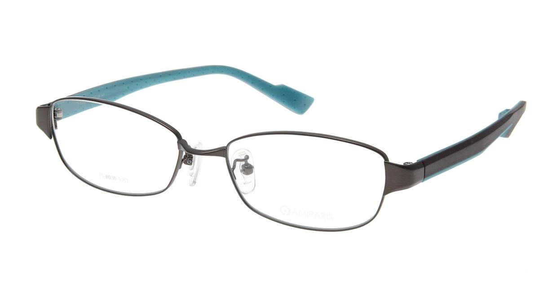 アミパリ TS-8030-4-52 [メタル/鯖江産/スクエア/茶色]