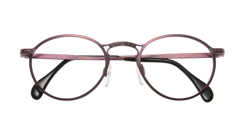 コレクション2000 595-F01 [メタル/丸メガネ/紫]  3