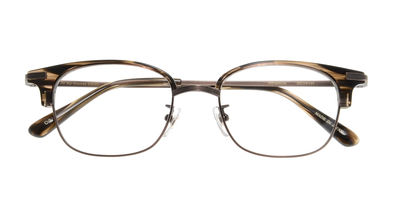 Oh My Glasses TOKYO Henry omg-041 3-50 [鯖江産/ウェリントン/茶色]  3
