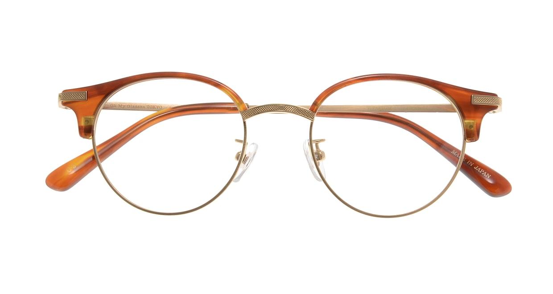 Oh My Glasses TOKYO Eric omg-042 3-47 [鯖江産/丸メガネ/茶色]  3