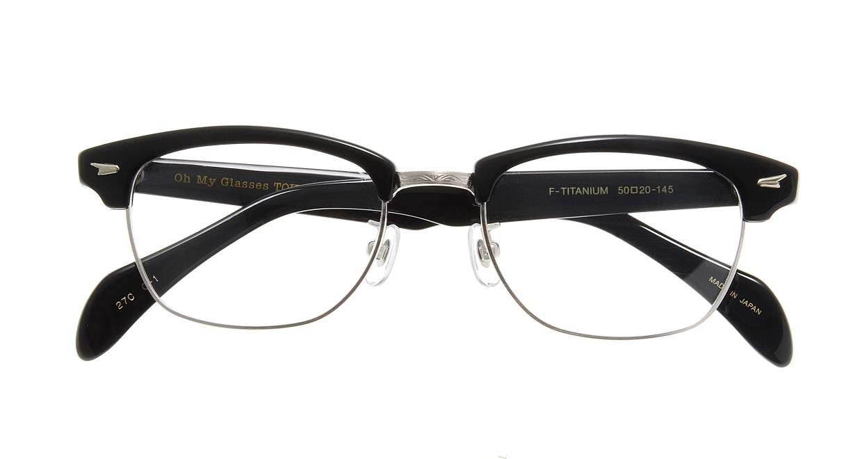 Oh My Glasses TOKYO Jodie omg-043 1-50 [黒縁/鯖江産/ウェリントン]  3
