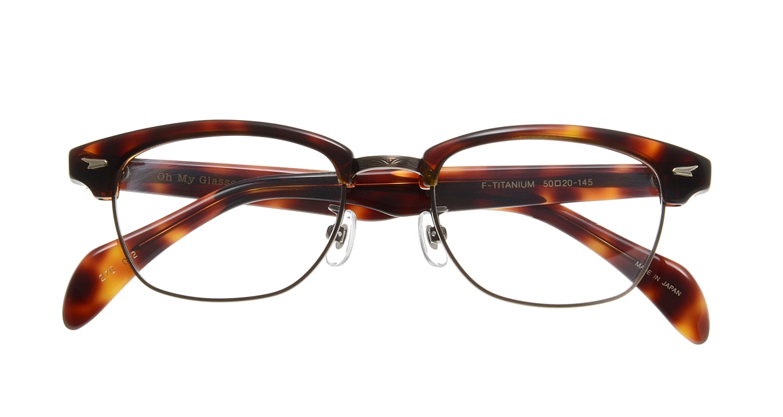 Oh My Glasses TOKYO Jodie omg-043 2-50 [鯖江産/ウェリントン/べっ甲柄]  3
