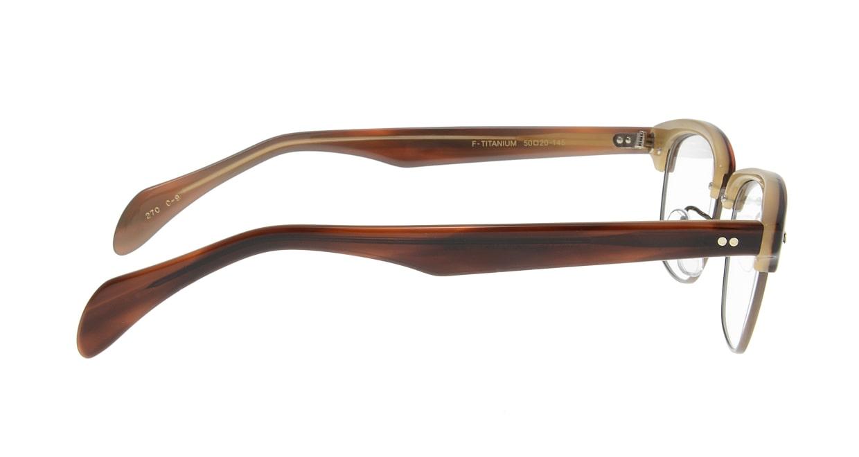 Oh My Glasses TOKYO Jodie omg-043 9-50 [鯖江産/ウェリントン/茶色]  1