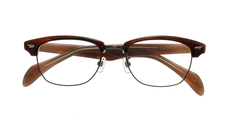 Oh My Glasses TOKYO Jodie omg-043 9-50 [鯖江産/ウェリントン/茶色]  3