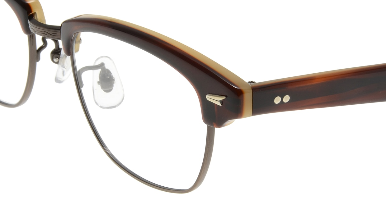 Oh My Glasses TOKYO Jodie omg-043 9-50 [鯖江産/ウェリントン/茶色]  4