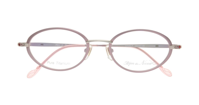 ビジュ ドゥ ナナ B008-PK [メタル/鯖江産/オーバル/ピンク]  3
