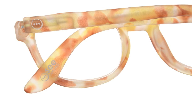 イジピジ リーディンググラス +2.0 #B-YELLOW TORTOISE SOFT [老眼鏡/ウェリントン/黄色]  4