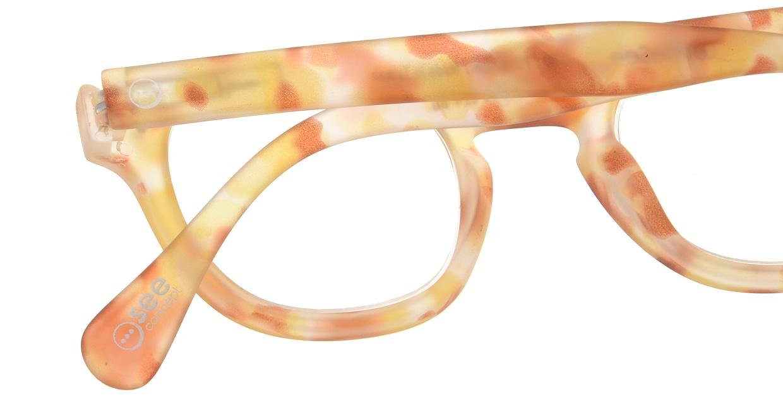 イジピジ リーディンググラス +2.5 #C-YELLOW TORTOISE SOFT [老眼鏡/ウェリントン/黄色]  4