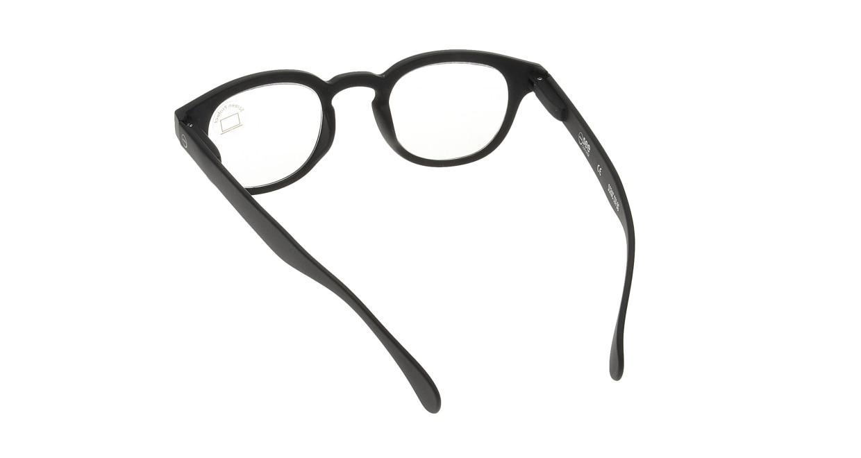 イジピジ PC用メガネ +0.0(度なし) #C-BLACK [ブルーライトカット/黒縁/ウェリントン]  2