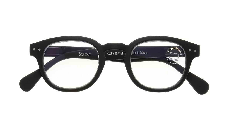 イジピジ PC用メガネ +0.0(度なし) #C-BLACK [ブルーライトカット/黒縁/ウェリントン]  3