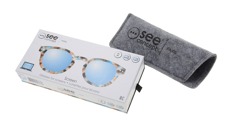 イジピジ PC用メガネ +0.0(度なし) #C-BLUE TORTOISE [ブルーライトカット/ウェリントン/派手]  6