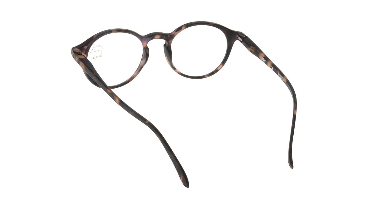イジピジ PC用メガネ +0.0(度なし) #D-TORTOISE [ブルーライトカット/丸メガネ/べっ甲柄]  2