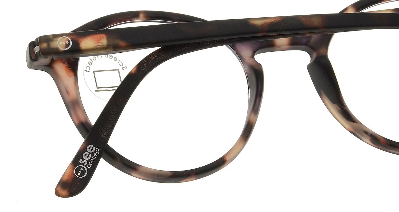 イジピジ PC用メガネ +0.0(度なし) #D-TORTOISE [ブルーライトカット/丸メガネ/べっ甲柄]  4