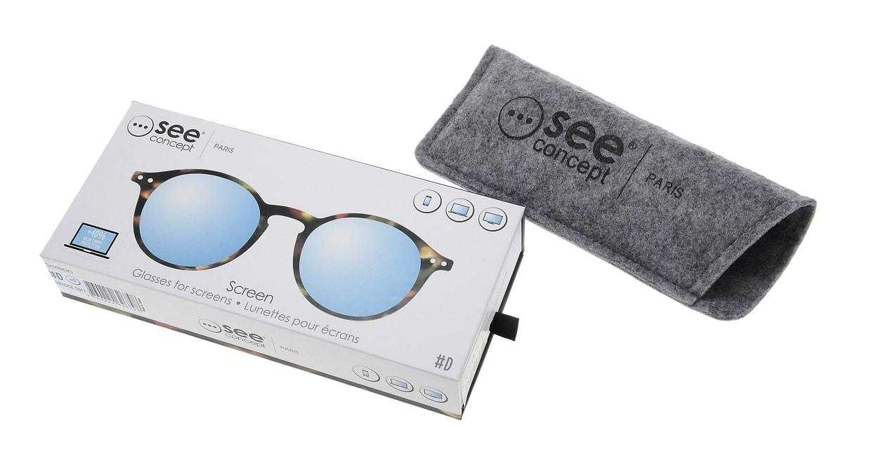 イジピジ PC用メガネ +0.0(度なし) #D-TORTOISE [ブルーライトカット/丸メガネ/べっ甲柄]  6