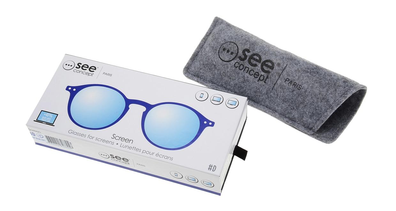 イジピジ PC用メガネ +0.0(度なし) #D-NAVY BLUE [ブルーライトカット/丸メガネ/青]  6