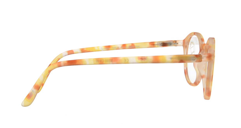 イジピジ PC用メガネ +0.0(度なし) #D-YELLOW TORTOISE [ブルーライトカット/丸メガネ/黄色]  1