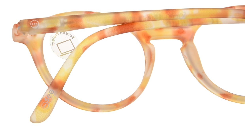 イジピジ PC用メガネ +0.0(度なし) #D-YELLOW TORTOISE [ブルーライトカット/丸メガネ/黄色]  4