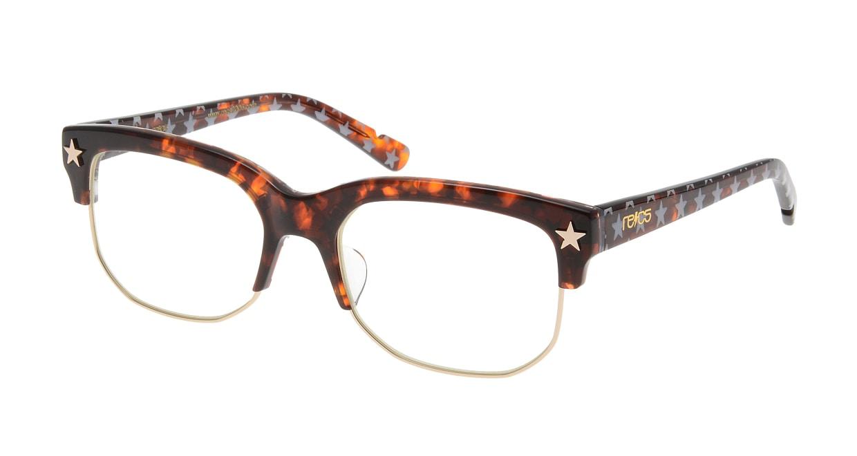 レックス FourStars recs-c9-03-BEKKOU STAR [ウェリントン/安い/べっ甲柄]