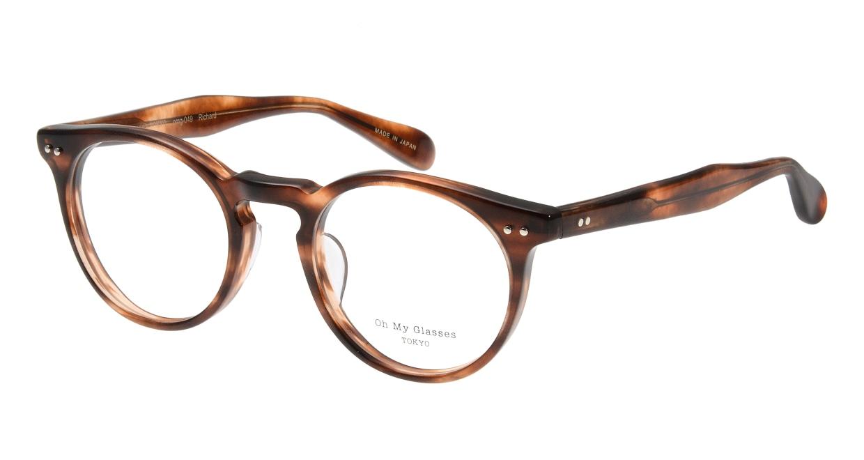 Oh My Glasses TOKYO Richard omg-049 3-48 [丸メガネ/茶色]