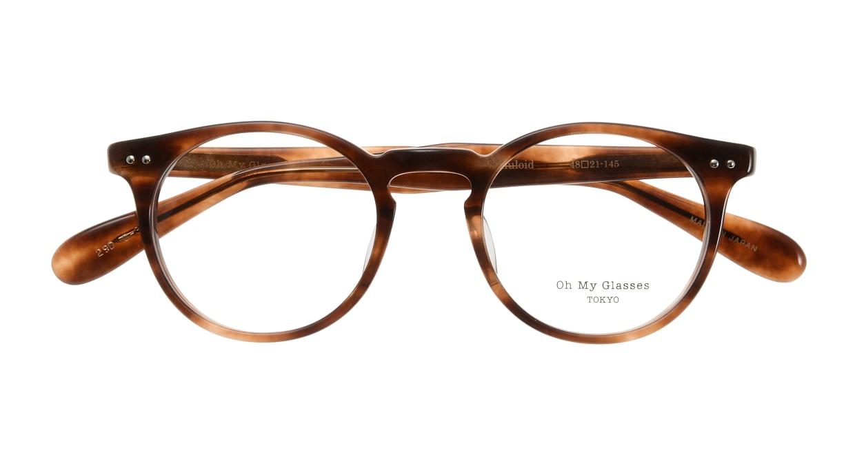 Oh My Glasses TOKYO Richard omg-049 3-48 [丸メガネ/茶色]  3