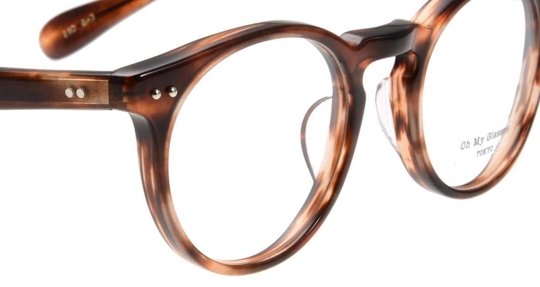 Oh My Glasses TOKYO Richard omg-049 3-48 [丸メガネ/茶色]  4