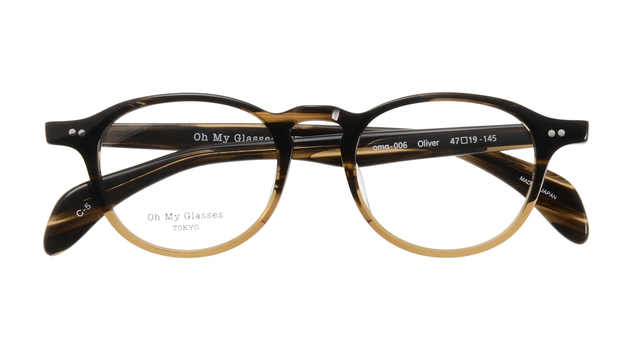 Oh My Glasses TOKYO Oliver omg-006 5-47 [鯖江産/丸メガネ/茶色]  3