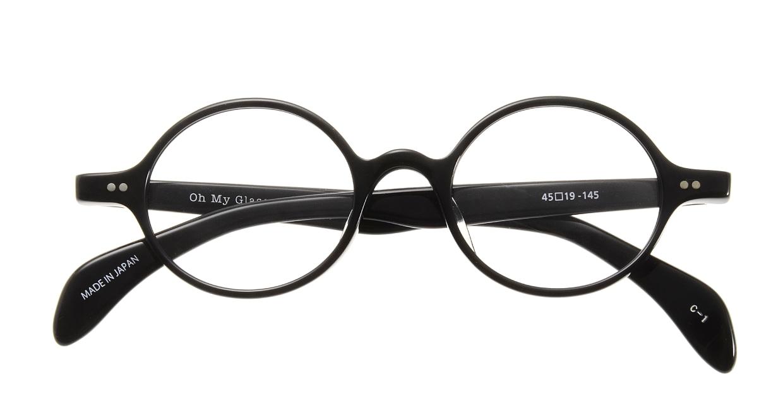 Oh My Glasses TOKYO Alex omg-007 1-45 [黒縁/鯖江産/丸メガネ]  3
