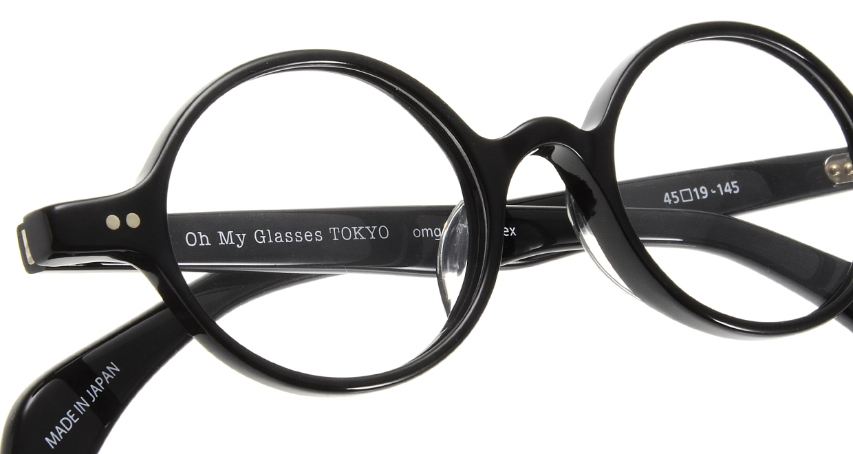 Oh My Glasses TOKYO Alex omg-007 1-45 [黒縁/鯖江産/丸メガネ]  4